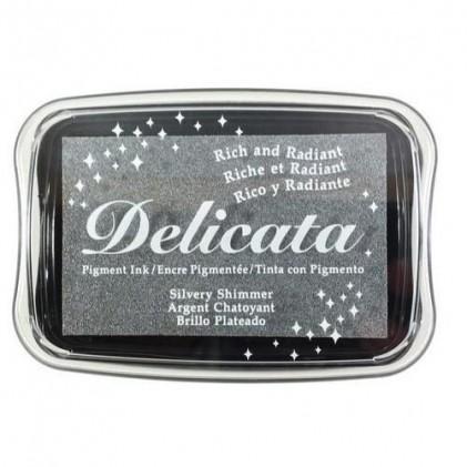 Delicata Metallic Pigment-Stempelkissen - Silvery Shimmer