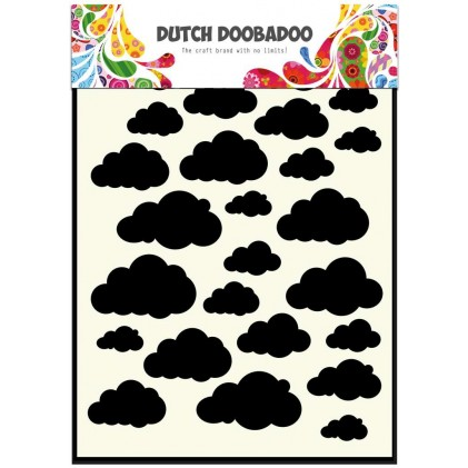 Dutch Doobadoo Mask Art Stencil A5 - Wolken