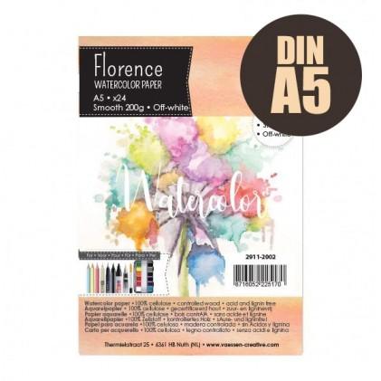 Florence Aquarellpapier Smooth A5 24 Blatt 200g/m²