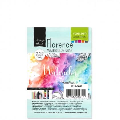 Florence Aquarellpapier Smooth White A6 36 Blatt