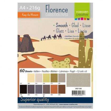 Florence Cardstock Glatt A4 60 Blatt - Erdtöne