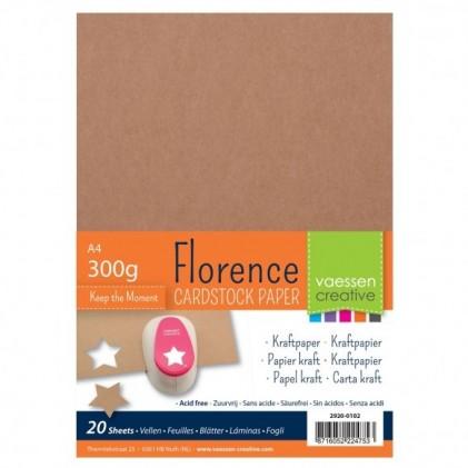 Florence Papier A4 20 Blatt - Kraft