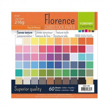 Florence Leinenkarton Multipack 15 x 15 cm 60 Blatt