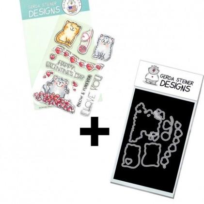 Gerda Steiner Design Clear Stamps - Valentine Cats Bundle