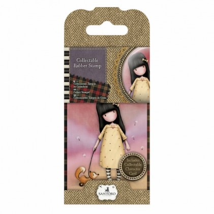 Gorjuss Collectable Rubber Stamp - Santoro - No. 3 The Pretend Friend