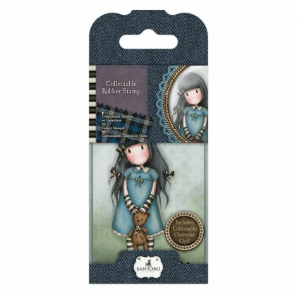 Gorjuss Collectable Rubber Stamp - Santoro - No. 4 Forget Me Not