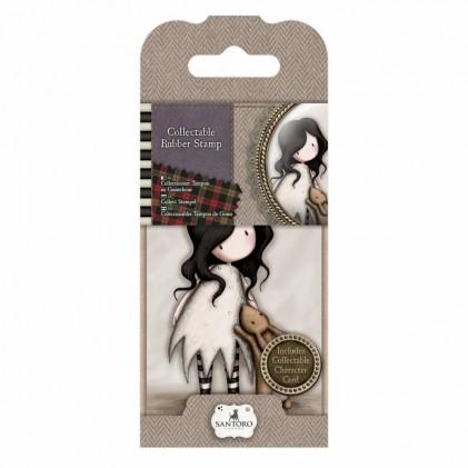 Gorjuss Collectable Rubber Stamp - Santoro - No. 8 I Love You Little Rabbit