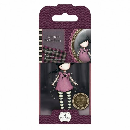 Gorjuss Collectable Rubber Stamp - Santoro - No. 13 Fairy Lights