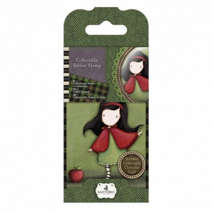 Gorjuss Collectable Rubber Stamp - Santoro - No. 14 Little Red