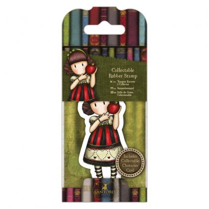 Gorjuss Collectable Rubber Stamp - Santoro - No. 37 Dear Apple