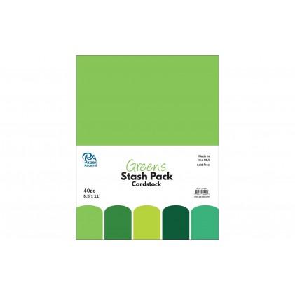 Paper Accents Stash Pack 40 Blatt - Greens