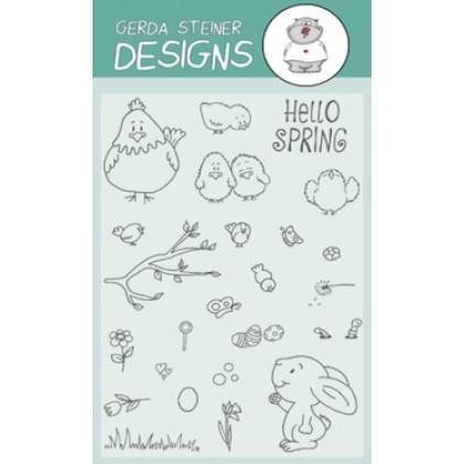 Gerda Steiner Design Clear Stamps - Hello Spring