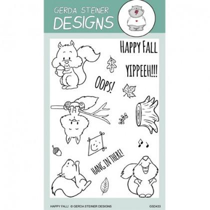 Gerda Steiner Designs Clear Stamps - Happy Fall Squirrel