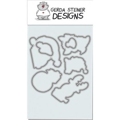 Gerda Steiner Designs - Peeking Friends Stanzschablonen-Set