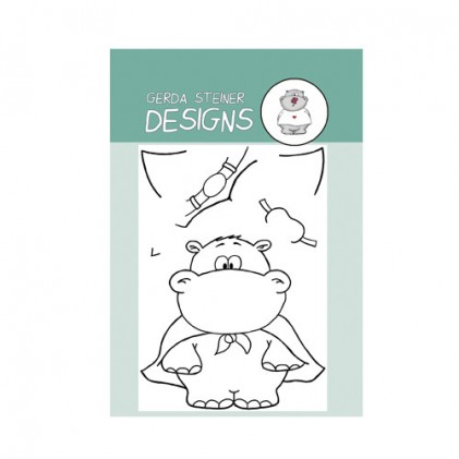 Gerda Steiner Designs Clear Stamps - Hippo in Disguise