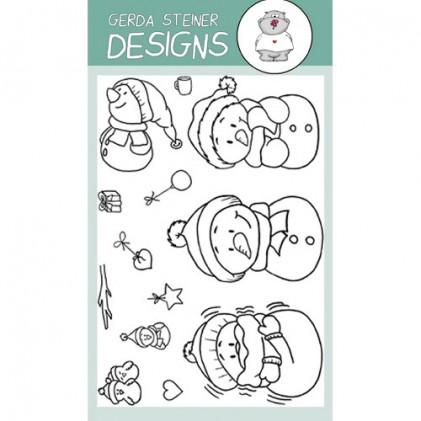Gerda Steiner Designs Clear Stamps - Snowman Friends