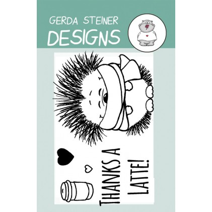 Gerda Steiner Design Clear Stamps - Hedgehog with Coffee