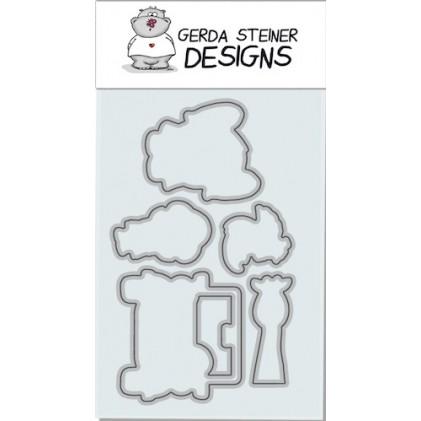 Gerda Steiner Designs - Go Wild! Stanzschablonen-Set