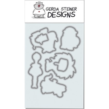 Gerda Steiner Designs - Party Animals Stanzschablonen-Set