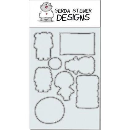 Gerda Steiner Designs - Pool Piggies  Stanzschablonen-Set