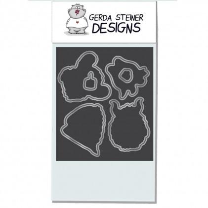 Gerda Steiner Designs - Coffee Monster Stanzschablonen-Set