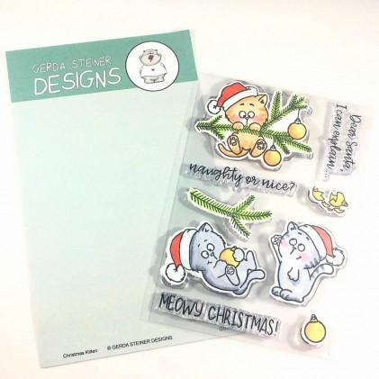 Gerda Steiner Designs Clear Stamps - Christmas Kitties