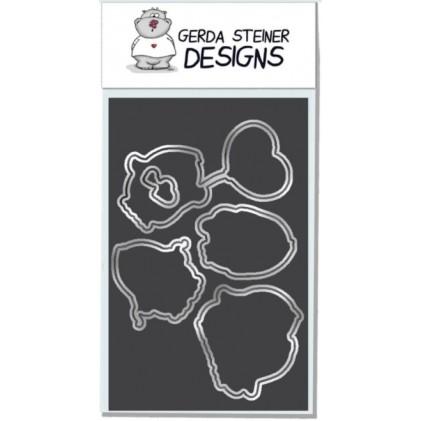 Gerda Steiner Designs - Valentine Penguins Stanzschablonen-Set