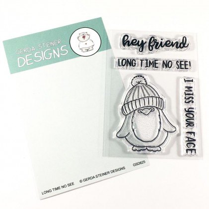 Gerda Steiner Designs Clear Stamps - Long Time No See Penguin