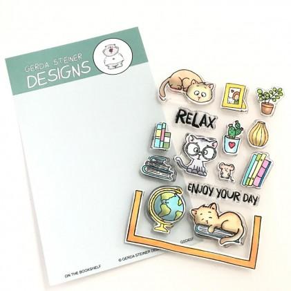 Gerda Steiner Designs Clear Stamps - On the Bookshelf