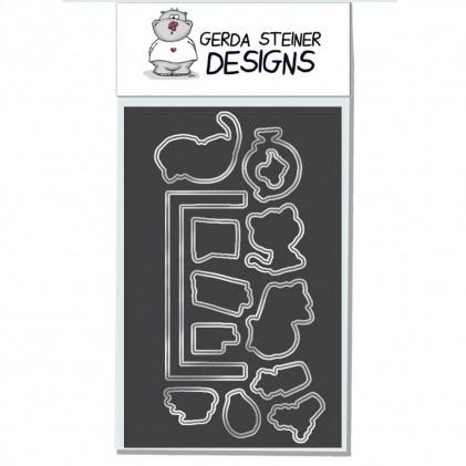 Gerda Steiner Designs - On the Bookshelf Stanzschablonen-Set