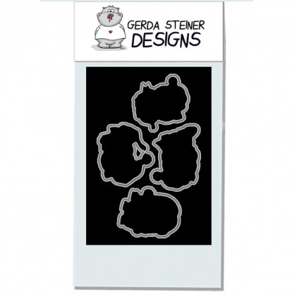 Gerda Steiner Design Clear Stamps - Carol Kitten 4x6 Die Set