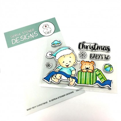 Gerda Steiner Design Clear Stamps - Baby Boy Christmas 3x4