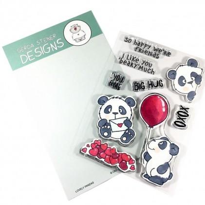 Gerda Steiner Design Clear Stamps - Lovely Pandas 4x6