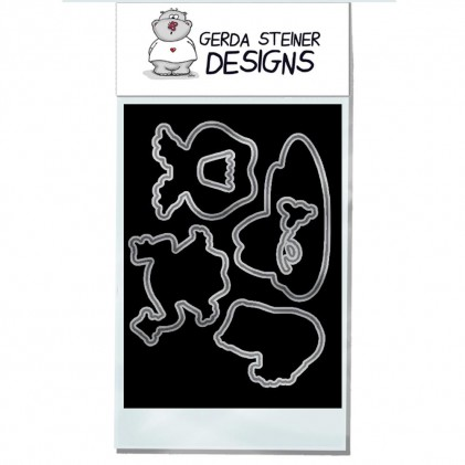 Gerda Steiner Designs - Frösche Stanzschablonen-Set