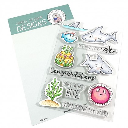 Gerda Steiner Designs Clear Stamps - Big Bite 4x6