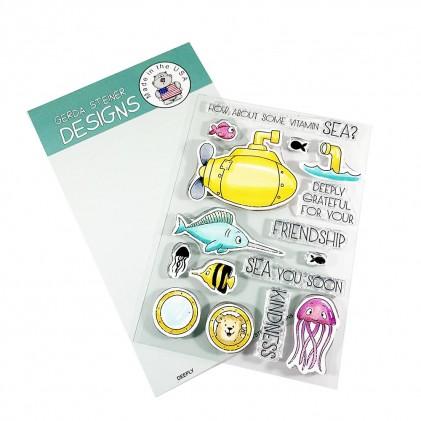 Gerda Steiner Design Clear Stamps - Deeply 4x6