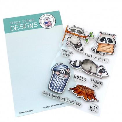 Gerda Steiner Designs Clear Stamps - Sneaky Racoons 4x6