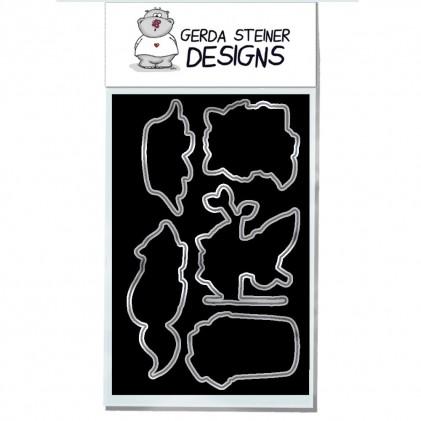 Gerda Steiner Designs - Sneaky Racoons Stanzschablonen-Set