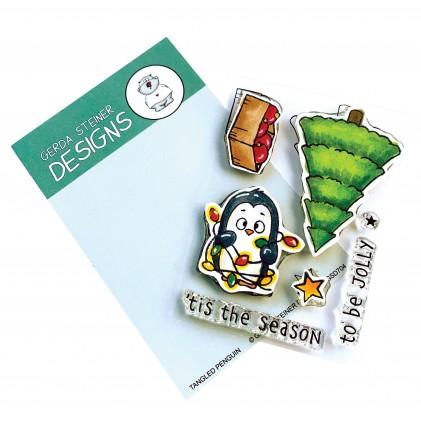 Gerda Steiner Design Clear Stamps - Tangled Penguin 3x4