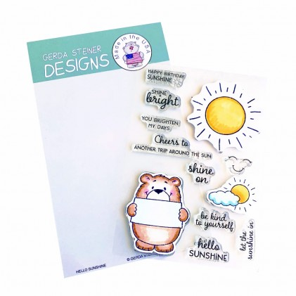 Gerda Steiner Designs Clear Stamps - Hello Sunshine 4x6