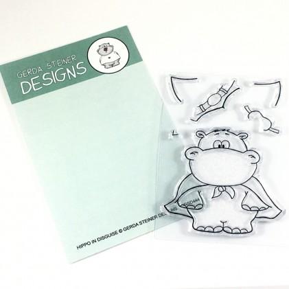 Gerda Steiner Designs Clear Stamps - Hippo in Disguise