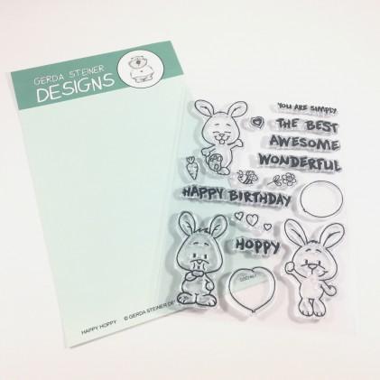 Gerda Steiner Design Clear Stamps - Happy Hoppy