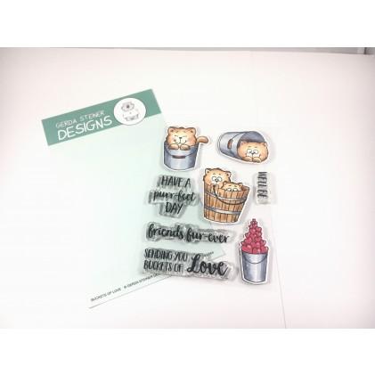 Gerda Steiner Design Clear Stamps - Buckets of Love