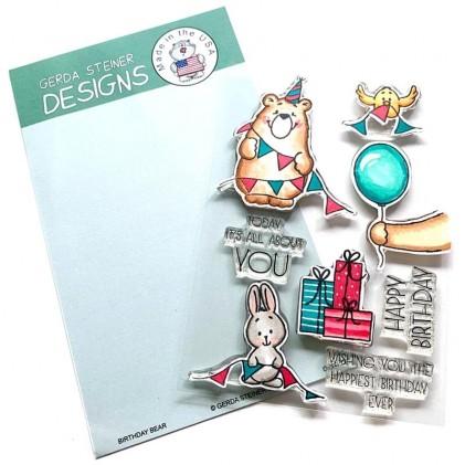 Gerda Steiner Design Clear Stamps - Birthday Bear 4x6