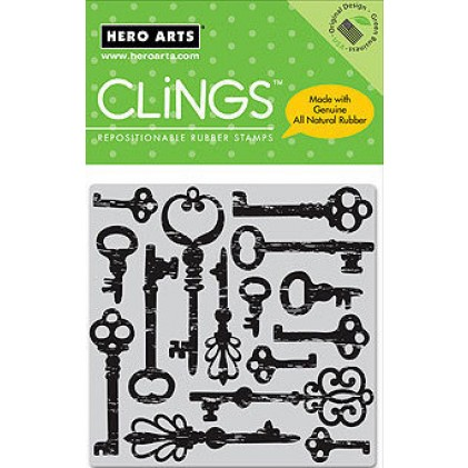 Hero Arts Cling Stamps - Antique Keys