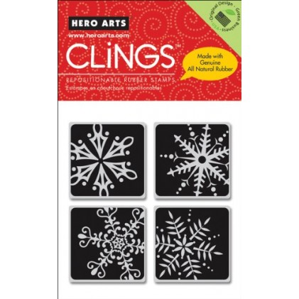 Hero Arts Cling Stamps - Four Framed Snowflakes