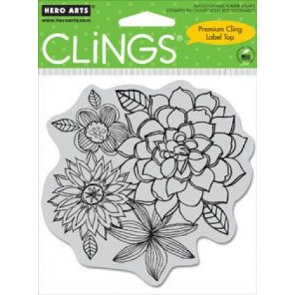 Hero Arts Cling Stamps - Flower Corsage