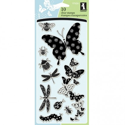 Inkadinkado Clear Stamps - Patterned Bugs