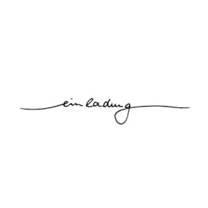 """Karten-Kunst Schriftzug \""""Einladung\"""" (Anne)"""