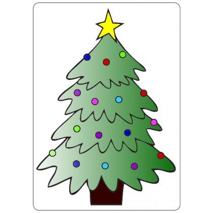 Crafts Too Hintergrund-Prägeschablone - Christmas Tree